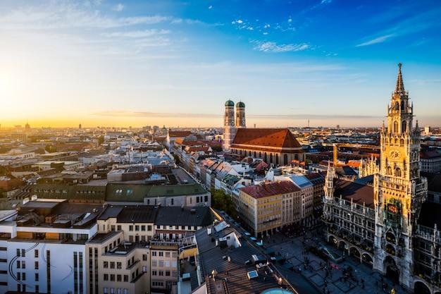 Аэрофотоснимок мюнхена, германия