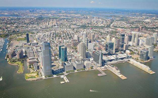 Вид с воздуха на нью-джерси, нью-йорк.