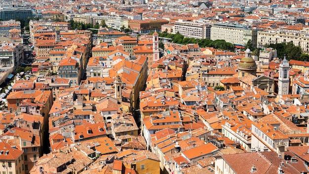 Вид с воздуха на ниццу, франция