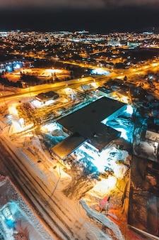 Вид с воздуха на ночное время cituscape