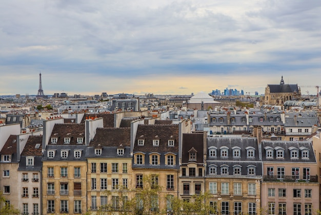 Аэрофотоснимок города париж франция апрель
