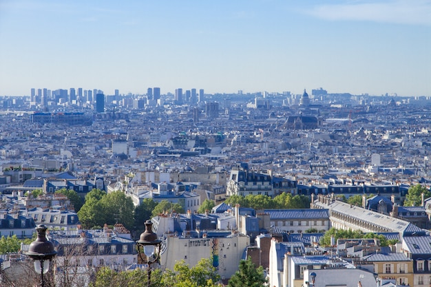 Аэрофотоснимок парижа с холма монмартр