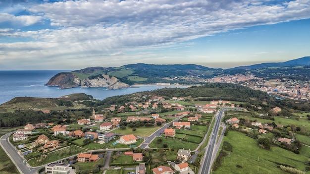 Вид с воздуха на жилой район