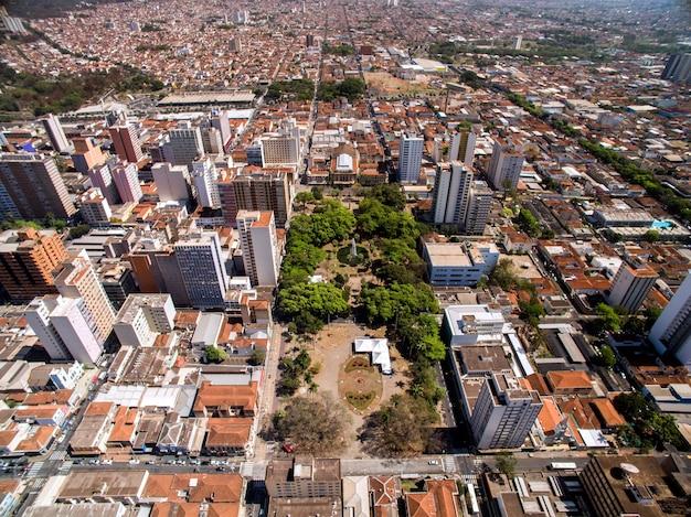 상파울루, 브라질의 ribeirao preto 도시의 공중보기