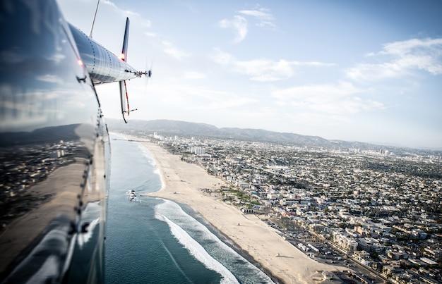 砂と海岸の空撮
