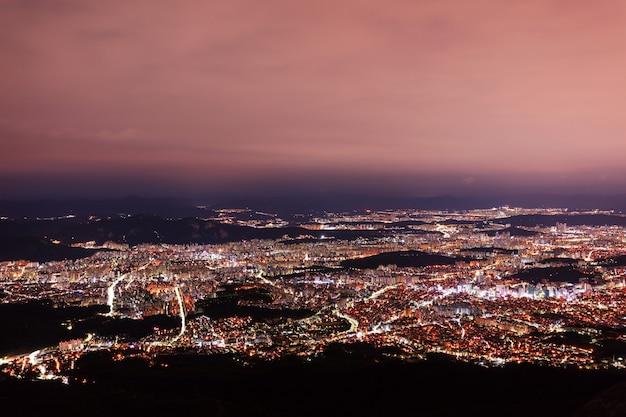 밤에 서울 대한민국의 항공보기