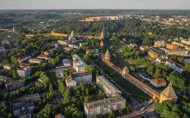 スモレンスク要塞の壁の航空写真