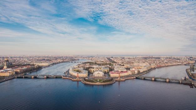 サンクトペテルブルク、市内中心部の航空写真