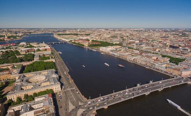 サンクトペテルブルク中心部の航空写真