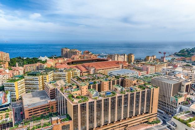 モナコ公国、ルイ2世スタジアムの航空写真