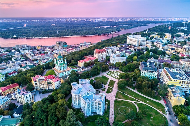Вид с воздуха на национальный музей истории украины в киеве