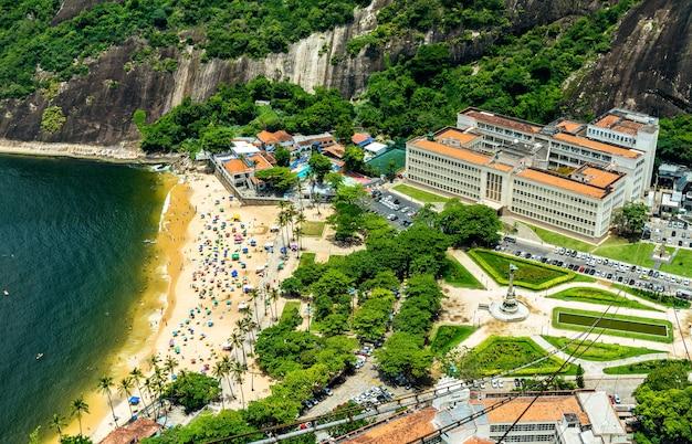 Вид с воздуха на район урка в рио-де-жанейро