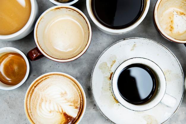 Аэрофотосъемка различного кофе