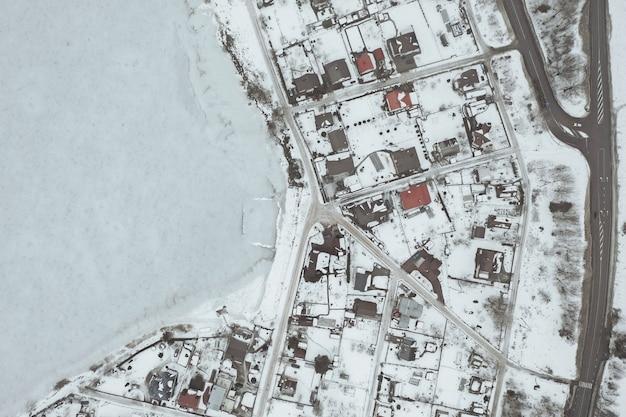Вид с воздуха на деревню