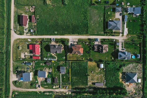 村の航空写真