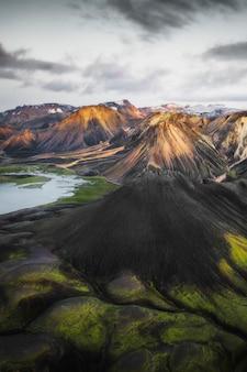 아이슬란드 화산의 항공 보기