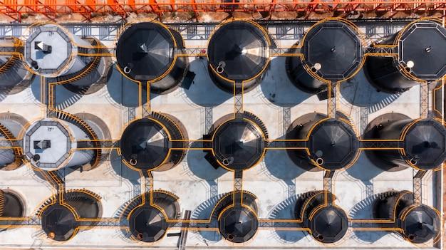정유 사업 회사의 석유 제품을 위한 항공 보기 오일 및 가스 저장 탱크, 휘발유 및 석유용 산업용 탱크.