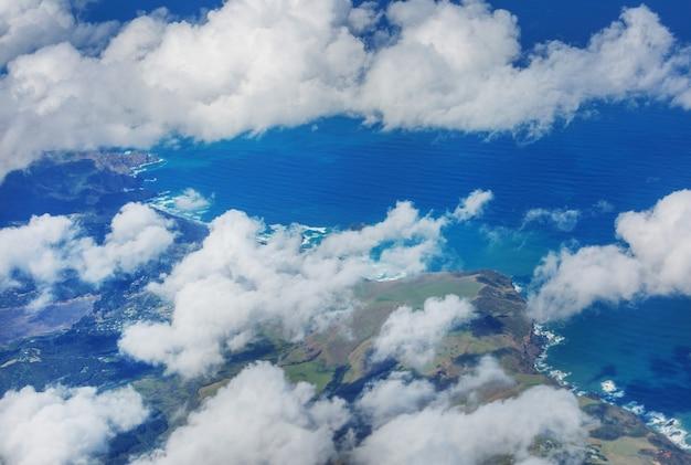 ニュージーランドの航空写真。