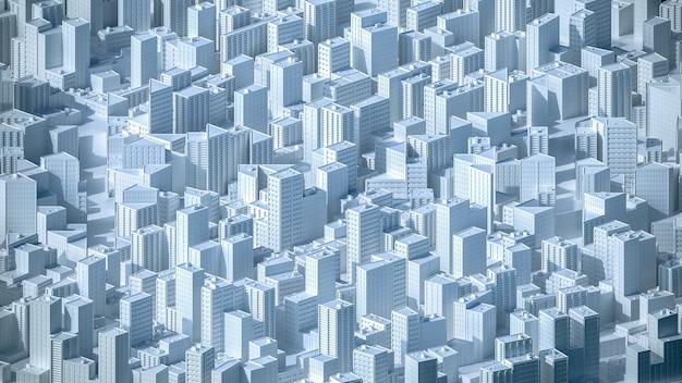도시 개념에 공중 볼 수 있습니다. 3d 그림