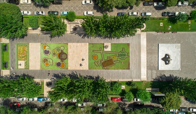 Aerial view of a park