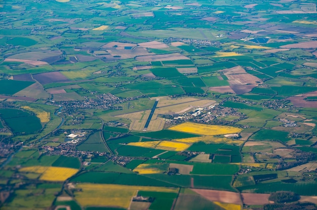 Aerial view of raf benson, oxfordshire and surrounding countryside