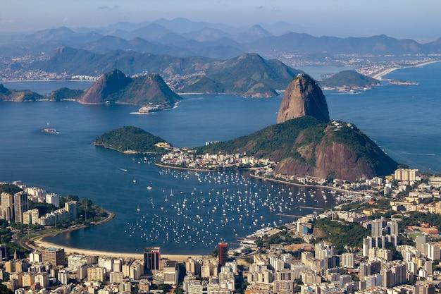 Aerial view of rio de janeiro brazil