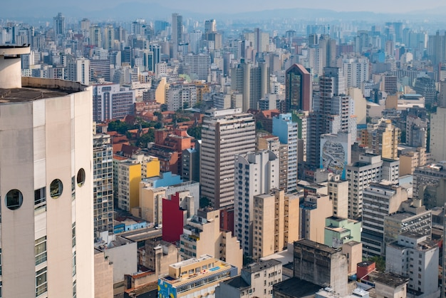 Aerial view of sao paulo downtown.