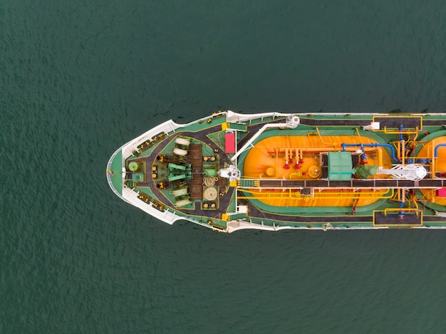 Aerial view of sea freight