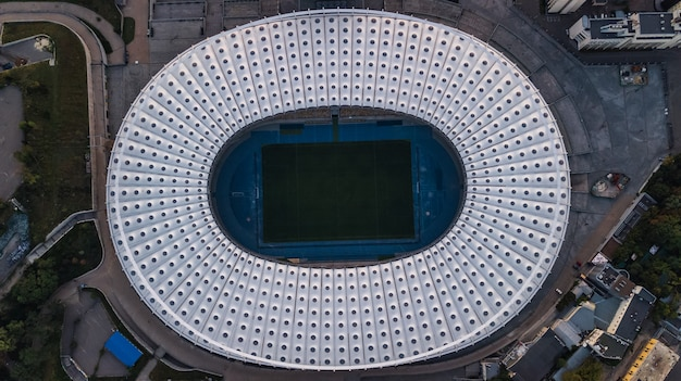 Aerial view of stadium in kyiv