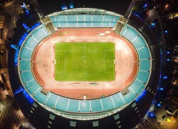 Aerial view of the stadium