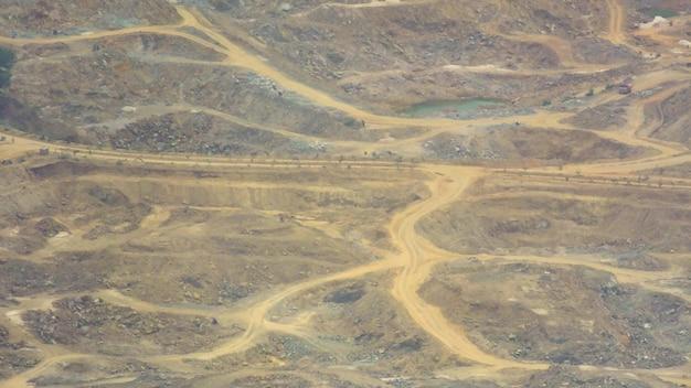 Aerial view of terrains of tamil nadu