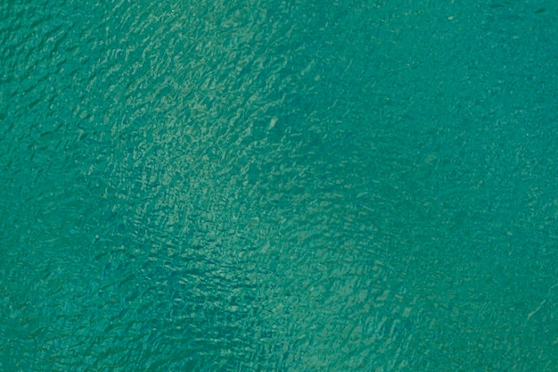 波紋のあるターコイズブルーの海の空撮テクスチャ