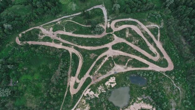 Vista aerea di una pista