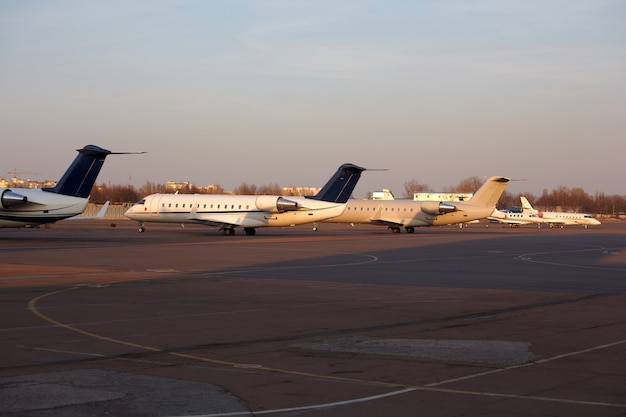 Aeroplanes parked