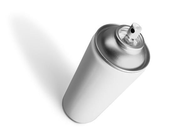 에어로졸 스프레이 금속 병 흰색 절연 수 있습니다.