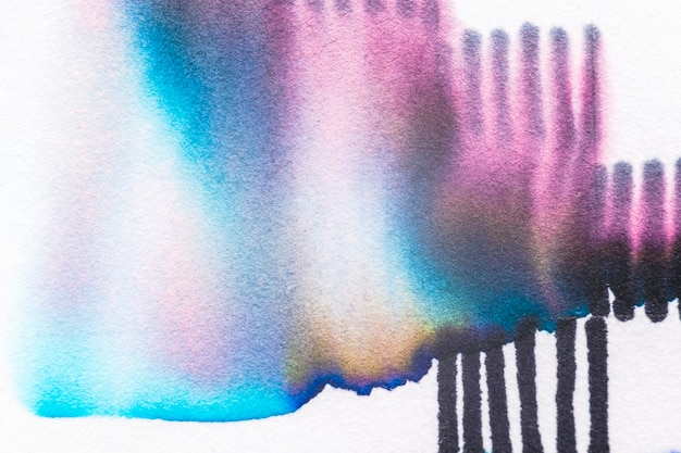 Aesthetic abstract chromatography art element