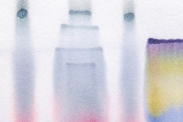 Aesthetic abstract chromatography background in blue tone