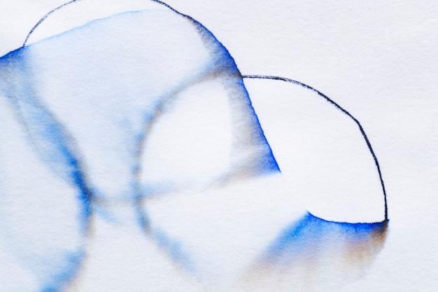 Sfondo cromatografia astratta estetica in tonalità blu