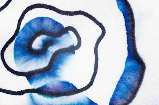 블루 톤의 미적 추상 크로마토그래피 배경