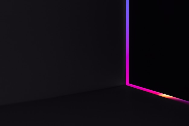 Aesthetic background with abstract neon led light effect