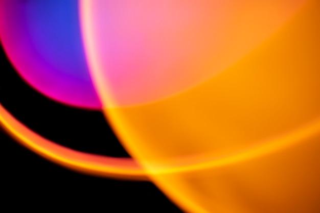 抽象的なネオンled光効果と美的背景