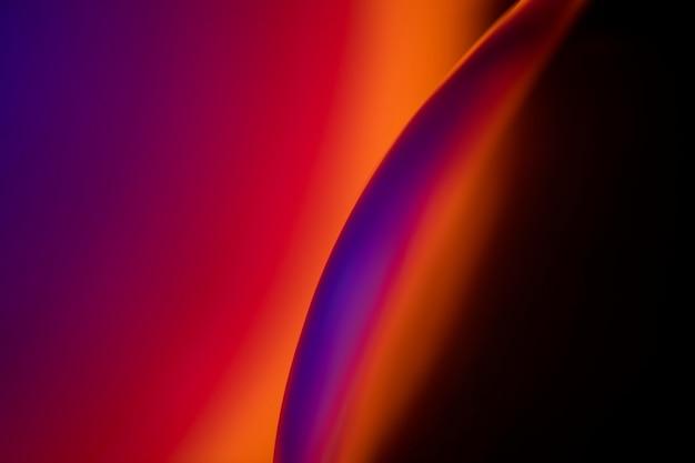 抽象的なネオンは光の効果を導いた美的背景