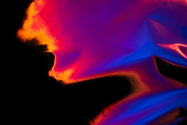 Sfondo estetico con lampada proiettore tramonto astratto