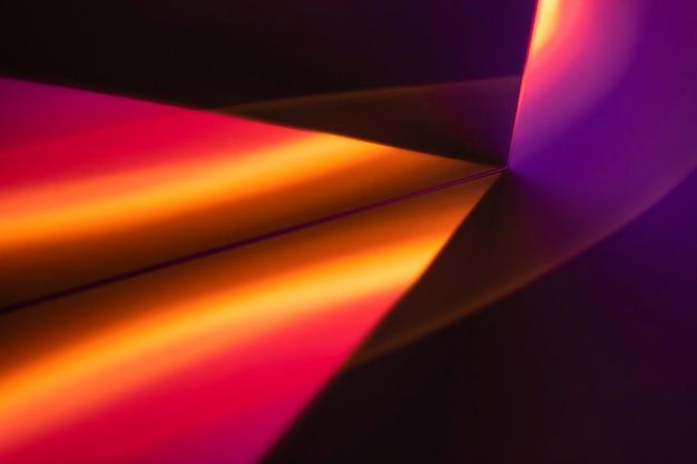 Sfondo estetico con lampada proiettore tramonto chiaro