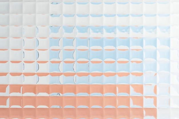 パターン化されたガラスの質感を持つ美的背景