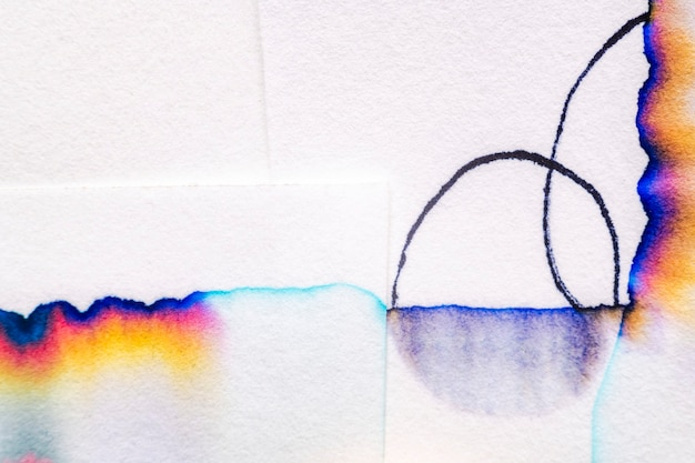 Aesthetic chromatography art on white papers
