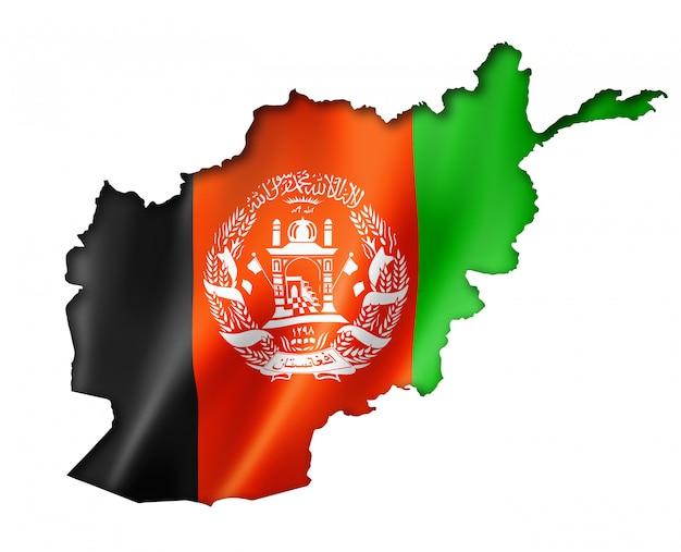 Afghan flag map