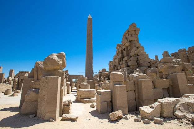 アフリカ、エジプト、ルクソール、カルナック神殿