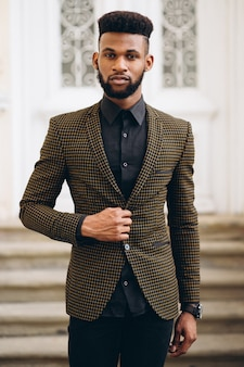 African american business man in suit