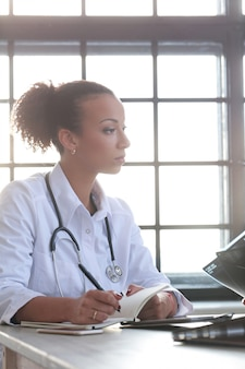 African american female doctor, medicine specialist